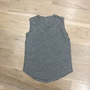 MADEWELL WHISPER SOFT MUSCLE TANK HEATHER GRAY